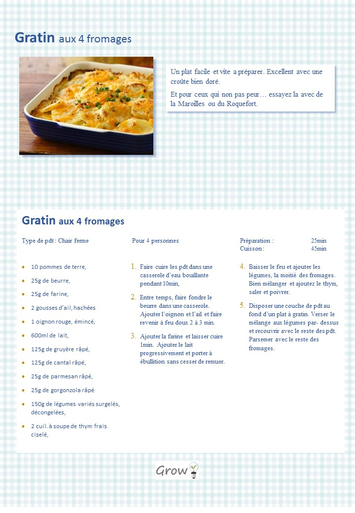 Gratin 4 fromages